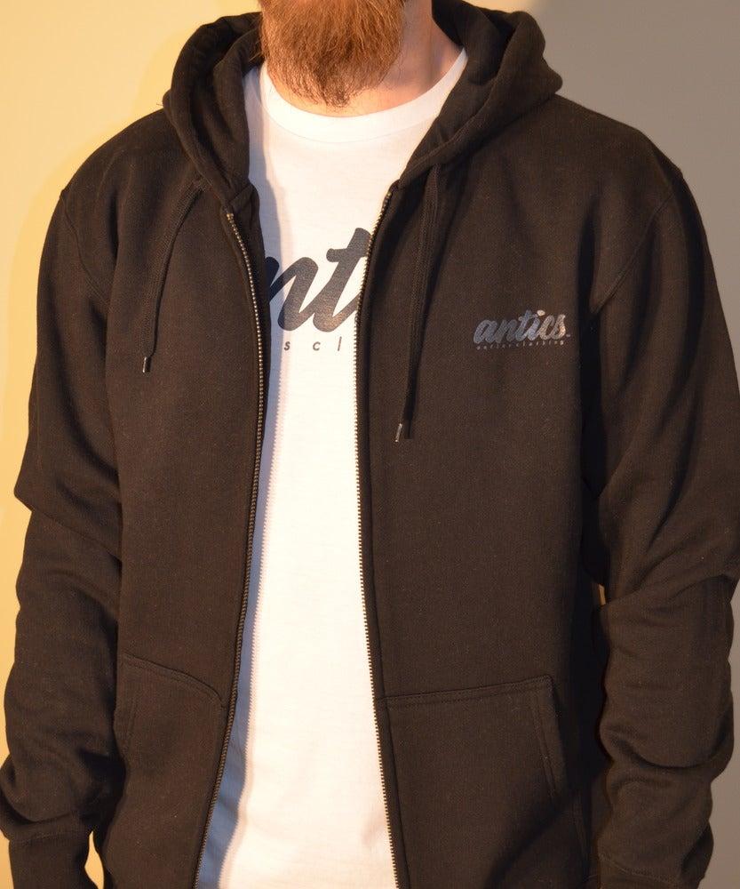 antics clothing mens zip black
