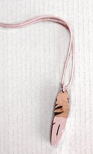 Image of 'petite plume' * wood pendant