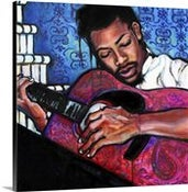 Image of While My Guitar Gently Weeps - Giclee on Canvas