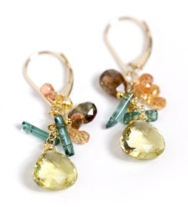 Image of Citrine drop Earrings
