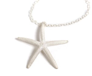Image of Silver Starfish Necklace