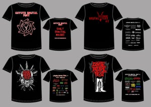 Image of COYOTE BRUTAL FEST - T-SHIRTS! 15$