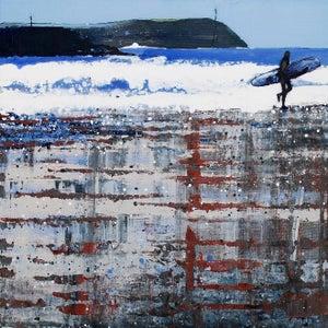 Image of Polzeath Beach, Winter Reflections.
