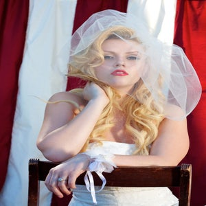 Image of Sheer Tulle Birdcage Veil-18 inch