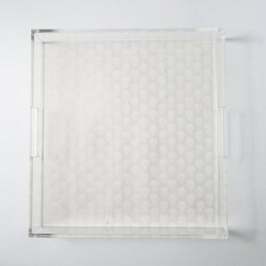 Image of Alexander McQueen Inspired Skull Pattern Lucite Tray with Handles