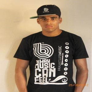 Image of Brightlife Music White on Black T-Shirts $ 9.99