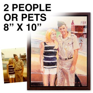 """Image of Commissioned 8"""" x 10"""" Painting - 2 people/pet"""