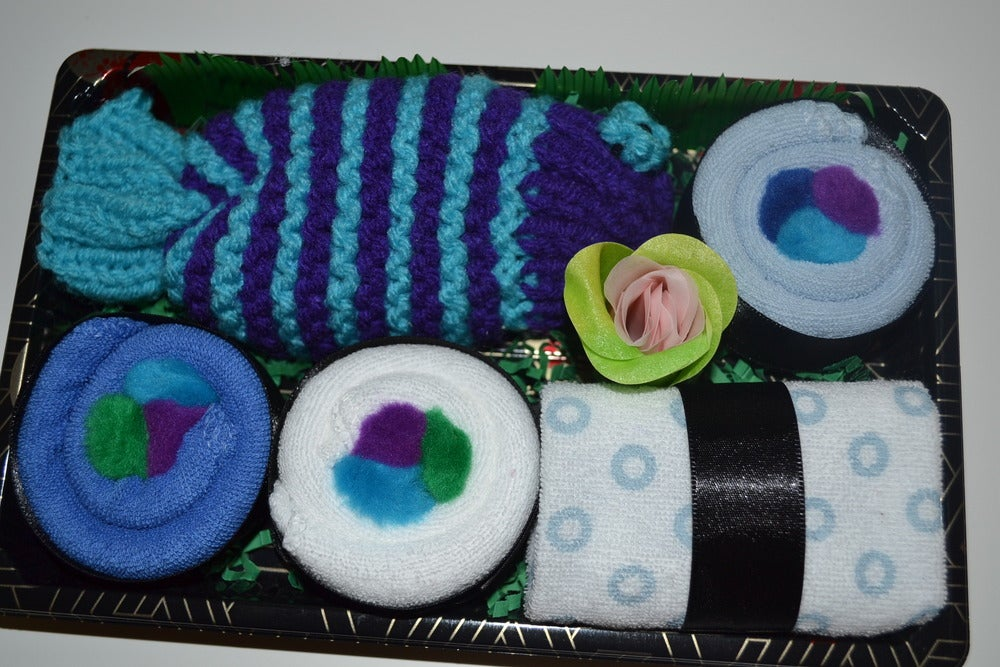 Image of Sushi, Baby! Baby Boy Sushi Bath Gift Set - Blue