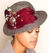 """Image of """"Francoise"""" Vintage Fedora Feather Hat"""