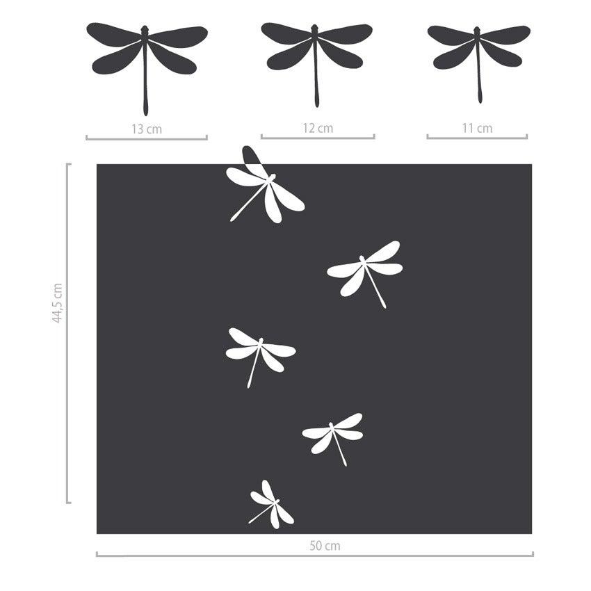 Image of Fenstertattoo Milchglasfolie Libellen