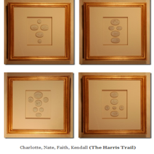 Image of Special order custom framed intaglios from Quatrefoil Design - (sold individually)