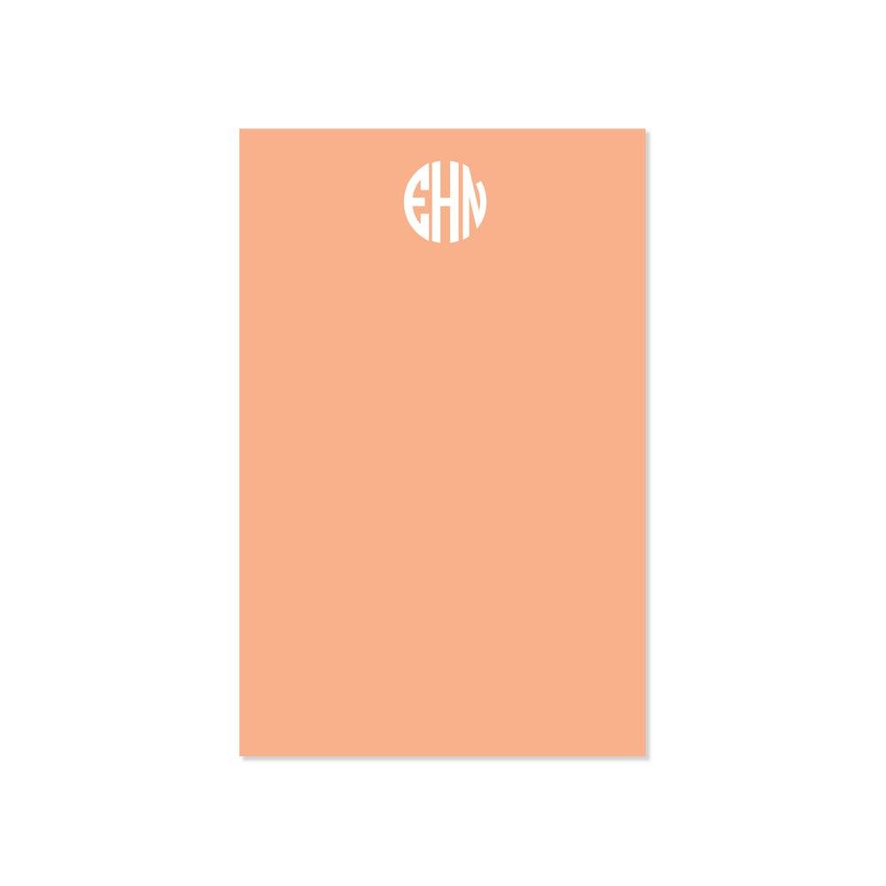 Image of Personalized Circle Monogram Notepad