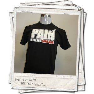 Image of PAINFIGHTWEAR 'THE ONE' MENS T'SHIRT BLACK