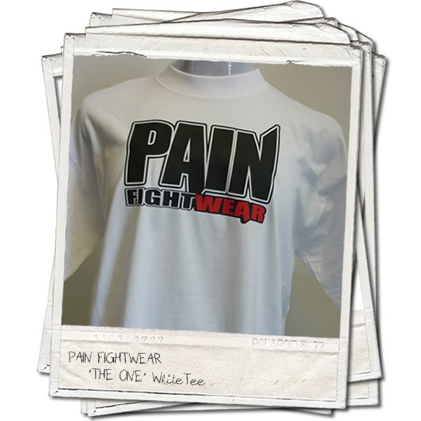 Image of PAINFIGHTWEAR 'THE ONE' MENS T'SHIRT WHITE