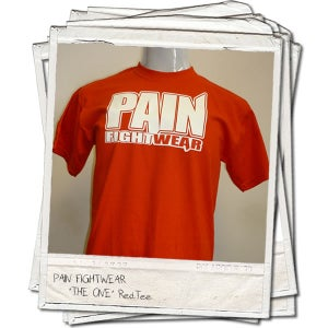 Image of PAINFIGHTWEAR 'THE ONE' MENS T'SHIRT RED