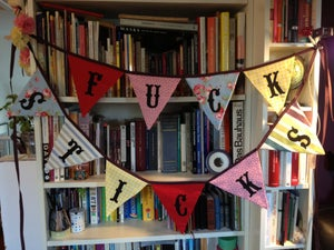 Image of A very English sweary bunting