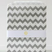 Image of Large Gray Chevron Bags