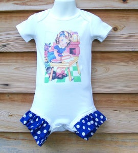 Image of Vintage Mommy's Helper Ruffle Onesie