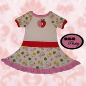 Image of Apple Twirl Dress with apple fabric - size 4/5/6