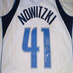 Image of Dirk Nowitzki Signed Swingman Home Jersey