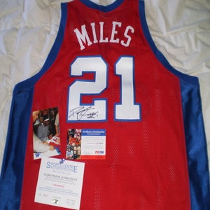 Image of Darius Miles Authentic Away Clippers Signed Jersey
