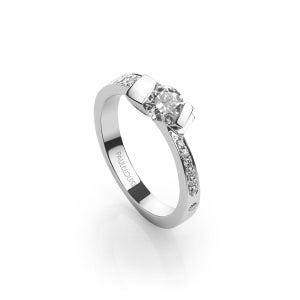 "Image of Solitaire diamants ""Gondole"""