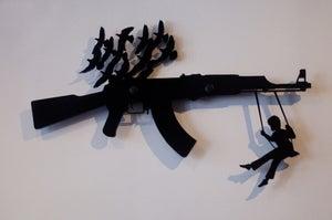 Image of Gun Rack Organizer - Black