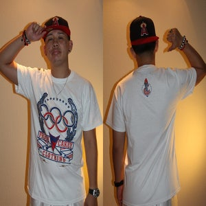 "Image of Fr3sh & Cakey ""Olympics"" Men's T-Shirt in White"