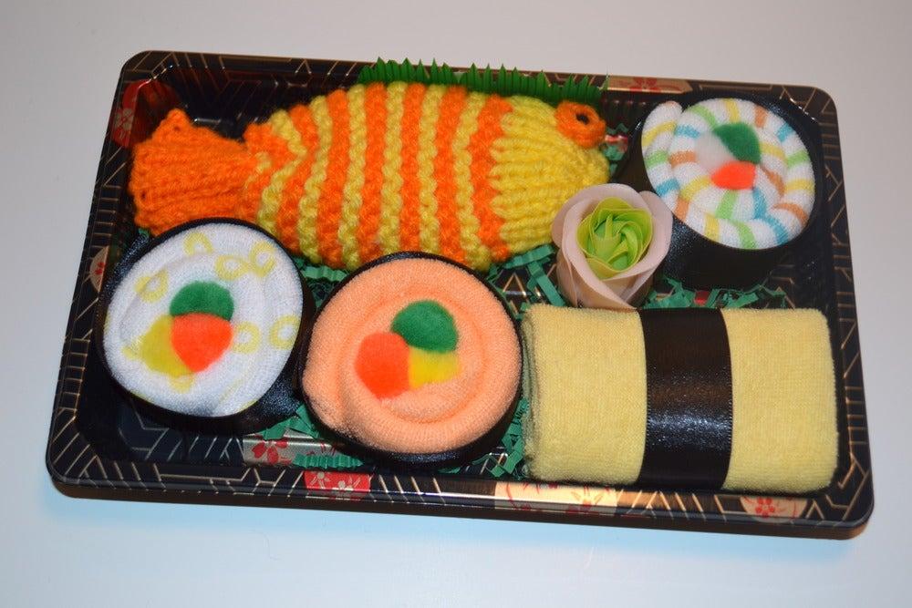 Image of Sushi, Baby! Neutral Baby Gift Set - Red & Orange Fish