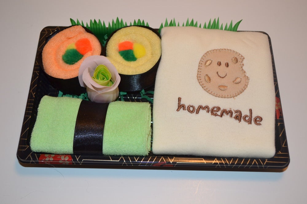 Neutral Baby Gift Sets : Infantile sushi baby neutral gift set homemade