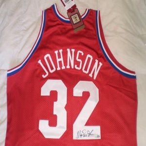 "Image of Earvin ""Magic"" Johnson Signed 1991 All Star Jersey Steiner Sports Authenticated"