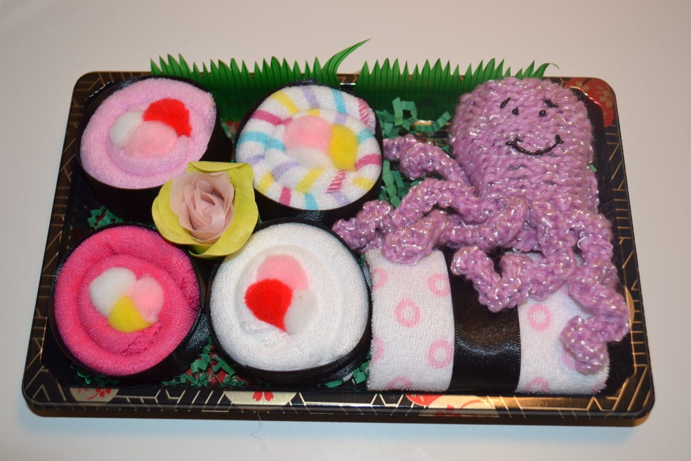 Image of Sushi, Baby! Baby Girl Gift Set with Octopus Toy