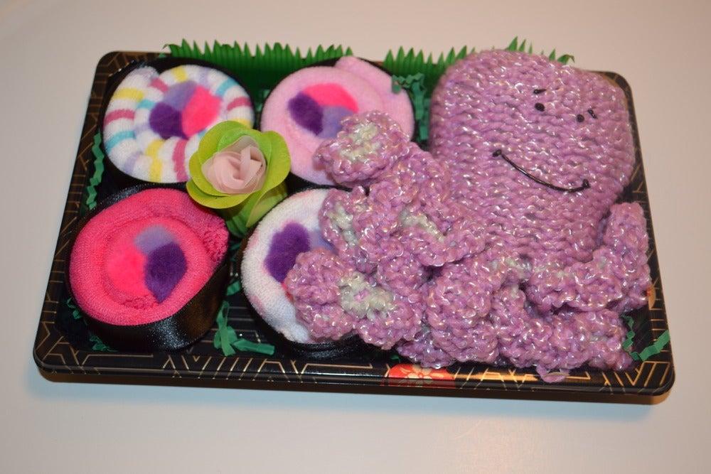 Image of Sushi, Baby! Baby Girl Sushi Set with Large Octopus Toy