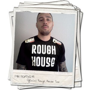 Image of OFFICIAL TEAM ROUGHHOUSE 'DISCIPLE' T'SHIRT BLACK