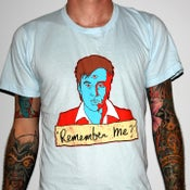 "Image of Bill Hicks ""Remember Me?"" by Jermaine Rogers T-Shirt - AA Light Blue"
