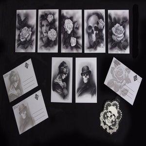 Image of PluraBella Postcard Set- Artwork by Kore Flatmo_7 Cards
