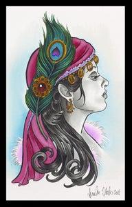 Image of Gypsy Lady- Peacock Print- Brenda Flatmo