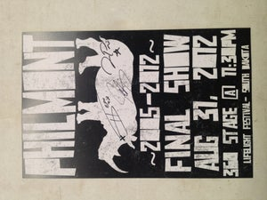 Image of Autographed Final Show Poster