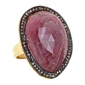 Image of  Kara Ackerman <i> Alice Rose <i/>  Pink Sapphire and Diamond ring