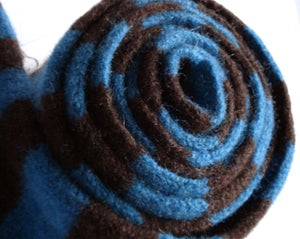 Image of Teal & Chocolate Stripe Scarf