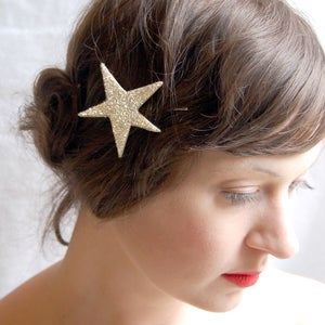Image of Starlette Sparkler Hair Pin Sterling Silver