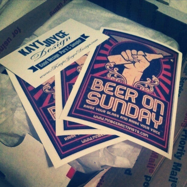 Image of Beer on Sunday Sticker