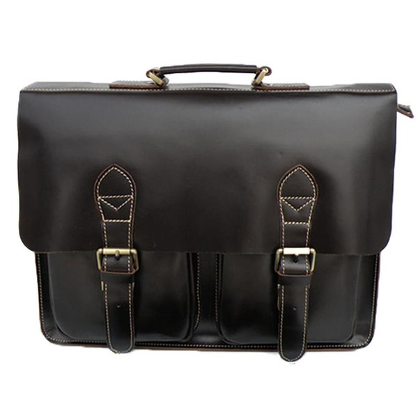 "Image of Handmade Superior Leather Briefcase Messenger 14"" 15"" Laptop / 13"" 15"" MacBook Bag (n67-3)"