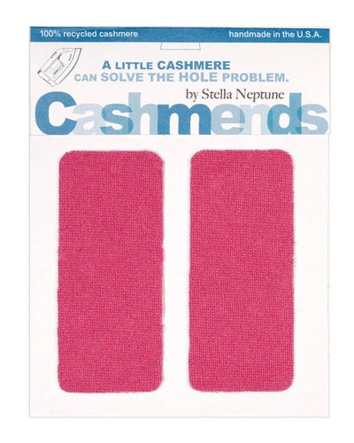 Image of Iron-On Cashmere Elbow Patches - Dark Pink