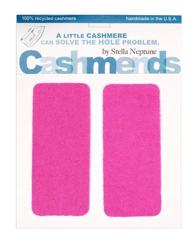 Image of Iron-On Cashmere Elbow Patches - HOT PINK - Limited Edition!