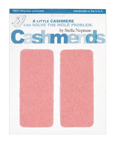 Image of    Iron-On Cashmere Elbow Patches - Pepto Pink