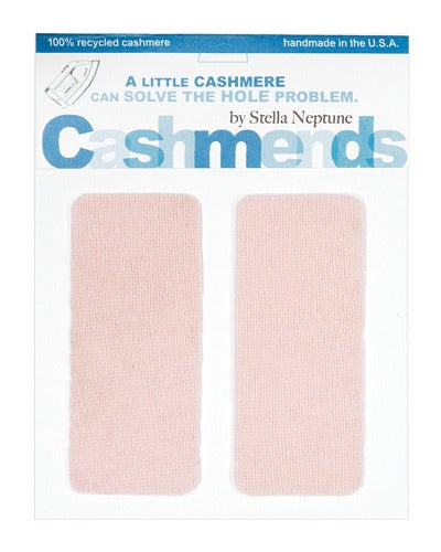 Image of Iron-On Cashmere Elbow Patches - Baby Pink