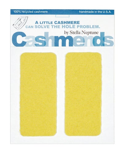 Image of Iron-On Cashmere Elbow Patches - Florescent Yellow - Limited Edition!