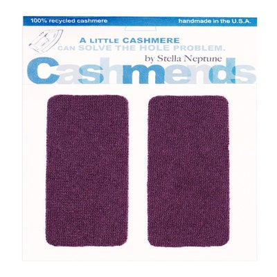 Image of Iron-On Cashmere Elbow Patches - RICH PLUM