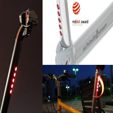 Image of LightSkin seat post with LED rear light Φ31.6mm black